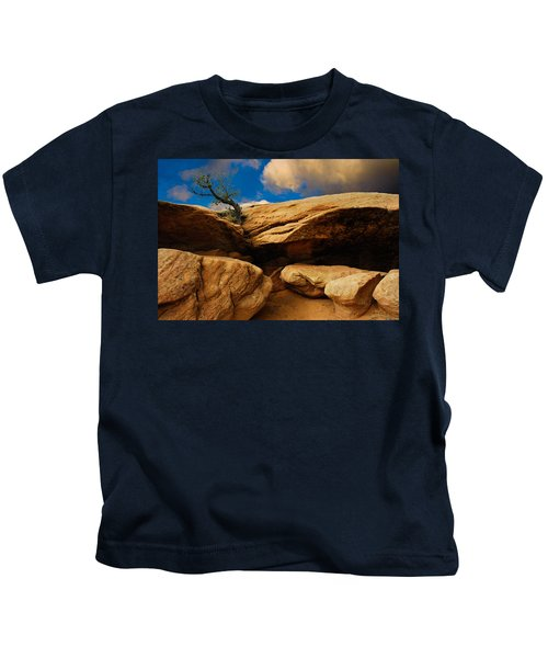 Between A Rock And A Hard Place Kids T-Shirt