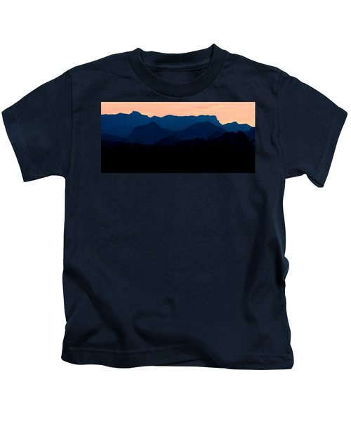 Big Bend Orange Blue Layers Kids T-Shirt