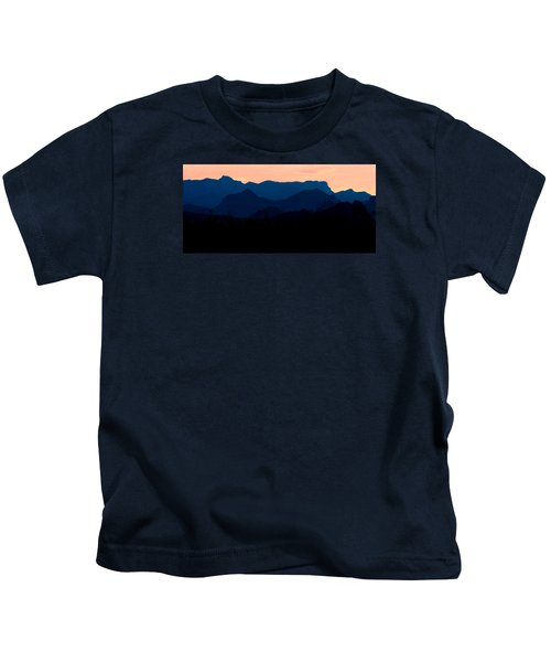 Big Bend Orange Blue Layers Kids T-Shirt