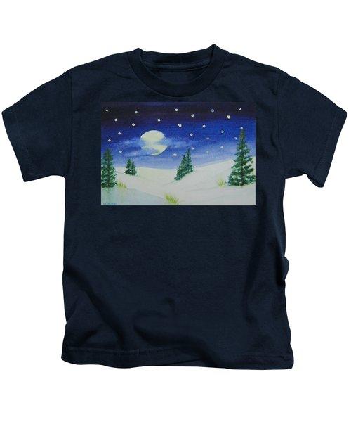 Big Moon Christmas Kids T-Shirt