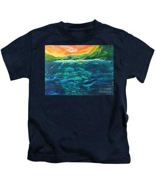 Big Tropical Wave Kids T-Shirt