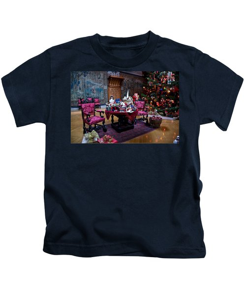 Kids T-Shirt featuring the photograph Biltmore Christmas   by William Jobes