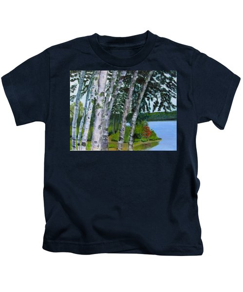 Birches At First Connecticut Lake Kids T-Shirt