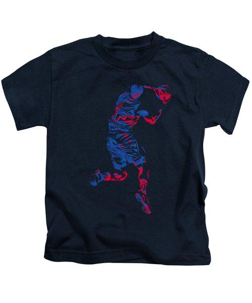 Blake Griffin Clippers Pixel Art T Shirt Kids T-Shirt