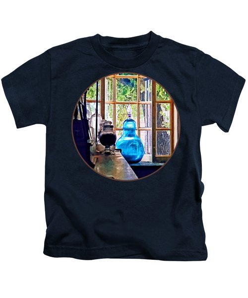 Blue Apothecary Bottle Kids T-Shirt