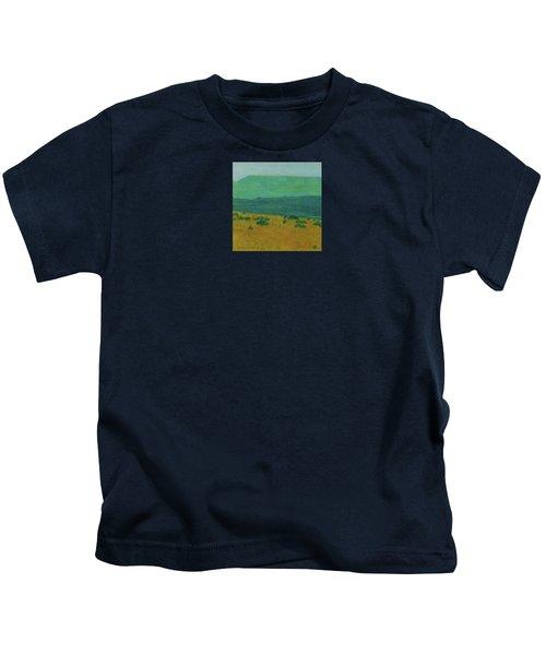 Blue-green Dakota Dream, 1 Kids T-Shirt