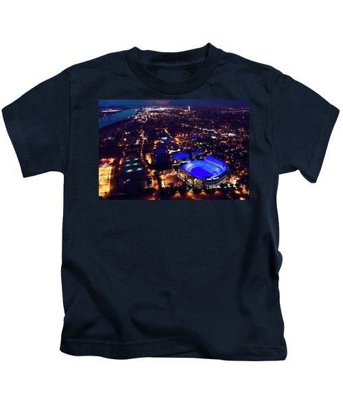 Blue Lsu Tiger Stadium Kids T-Shirt