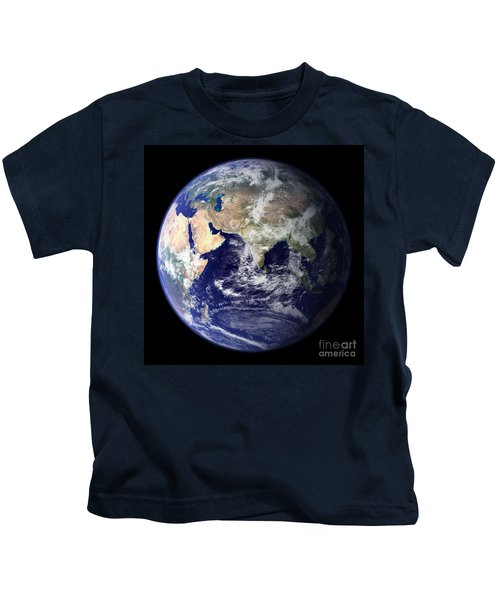 Blue Marble Earth, Asia Kids T-Shirt