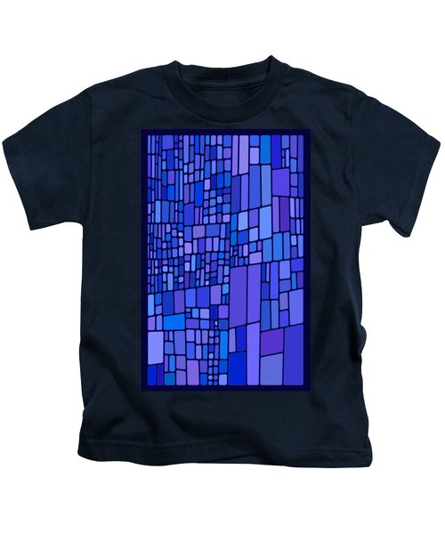 Blue Mondrian Kids T-Shirt
