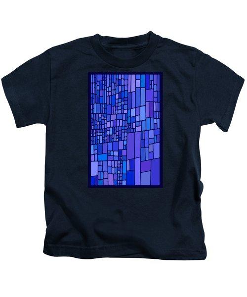 Blue Mondrian Kids T-Shirt