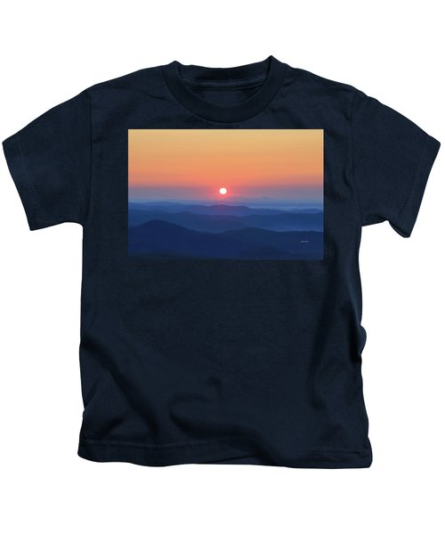 Blue Ridge Sunrise Kids T-Shirt