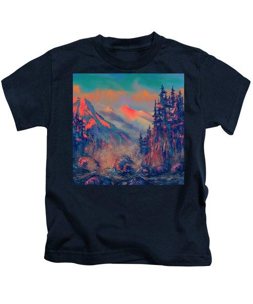Blue Silence Kids T-Shirt