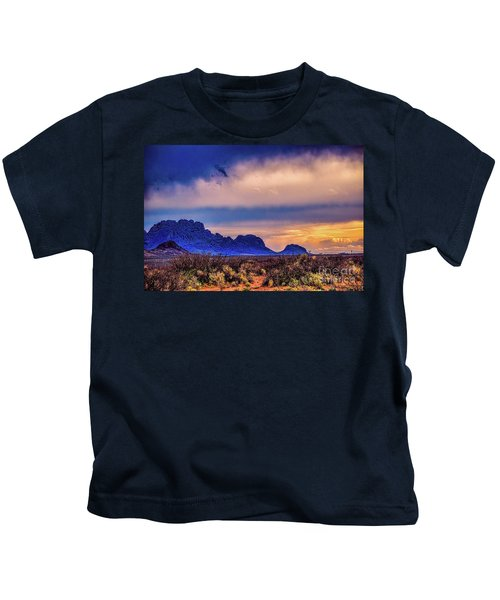 Blue Sunset Nm-az Kids T-Shirt