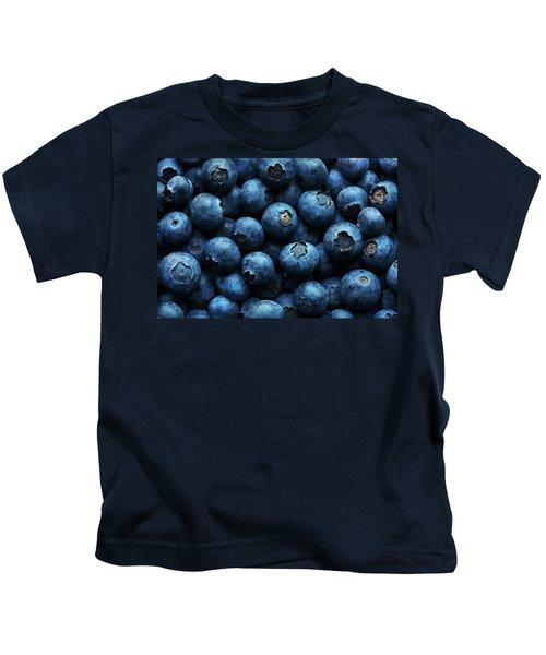 Blueberries Background Close-up Kids T-Shirt