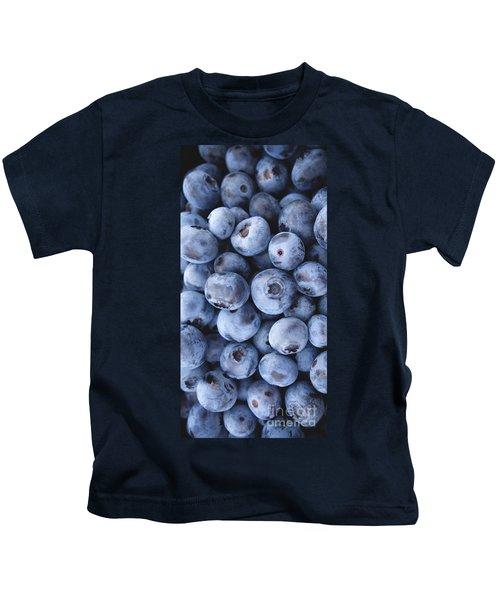 Blueberries Foodie Phone Case Kids T-Shirt by Edward Fielding