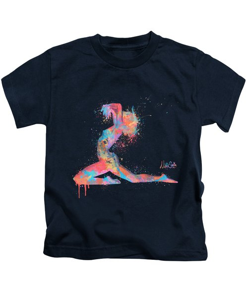 Bodyscape In D Minor - Music Of The Body Kids T-Shirt by Nikki Marie Smith