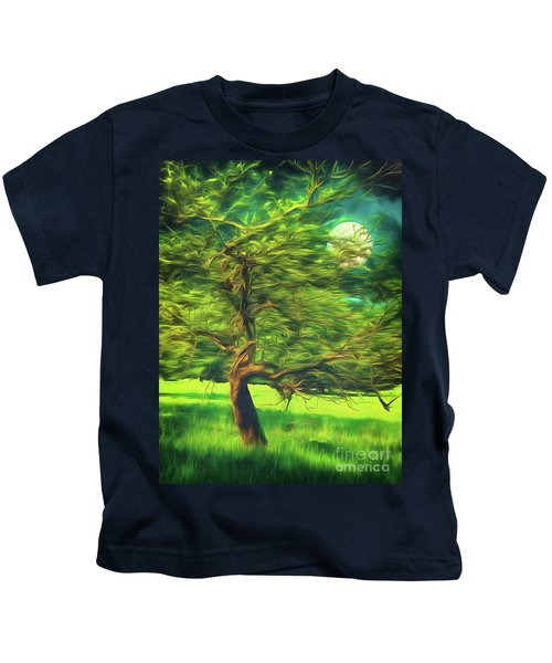 Bowing To The Moon Kids T-Shirt