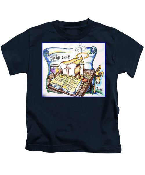 Bread Of Life Kids T-Shirt by Duane Bemis