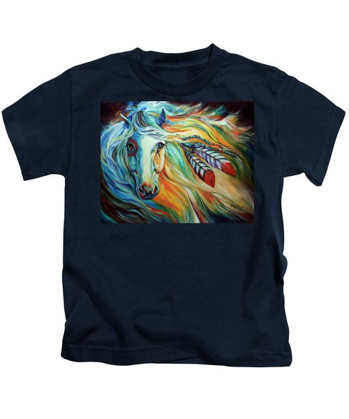 Breaking Dawn Indian War Horse Kids T-Shirt