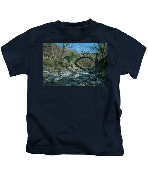 Bridge Over Peaceful Waters - Il Ponte Sul Ciae' Kids T-Shirt