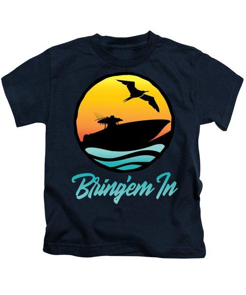 Bring'em In Sunset Cruise Kids T-Shirt