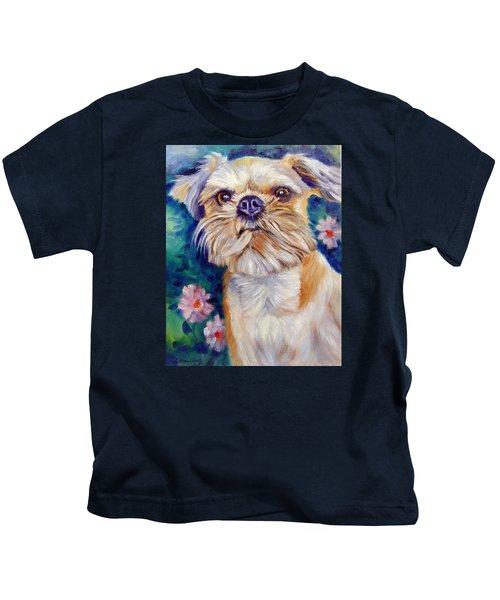 Brussels Griffon Kids T-Shirt by Lyn Cook