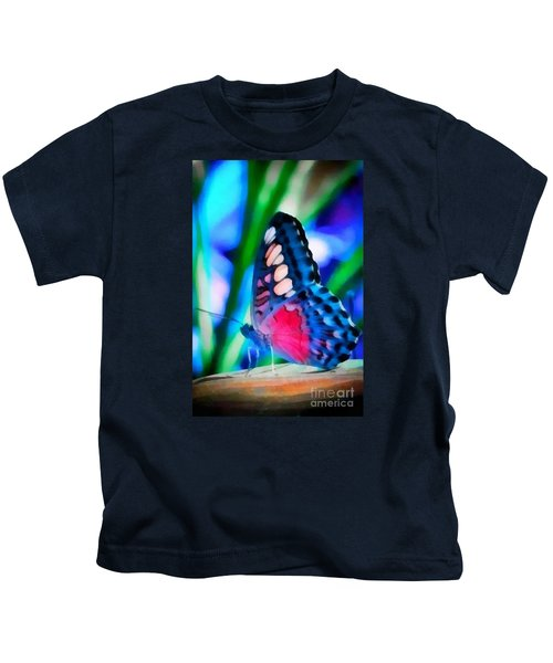 Butterfly Realistic Painting Kids T-Shirt