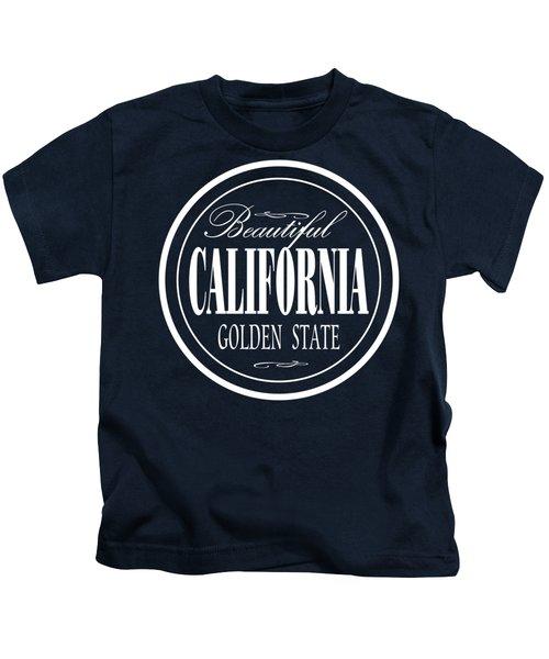 California Golden State Design Kids T-Shirt