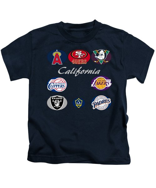 California Professional Sport Teams Collage  Kids T-Shirt by Movie Poster Prints