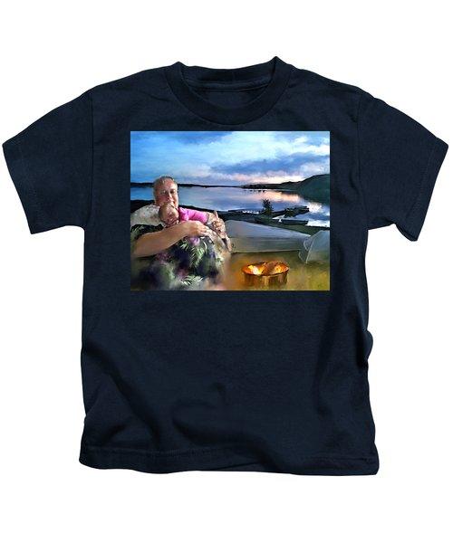 Camping With Grandpa Kids T-Shirt