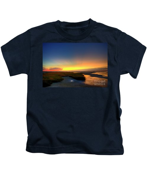 Cape Cod Sunset Kids T-Shirt