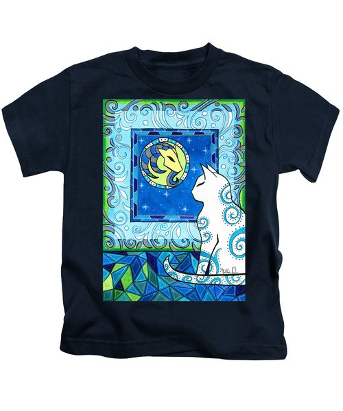 Capricorn Cat Zodiac Kids T-Shirt