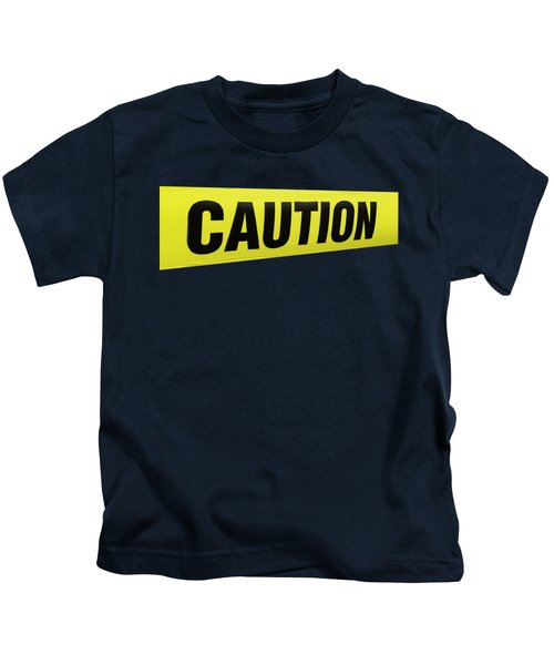 Caution Tape Kids T-Shirt