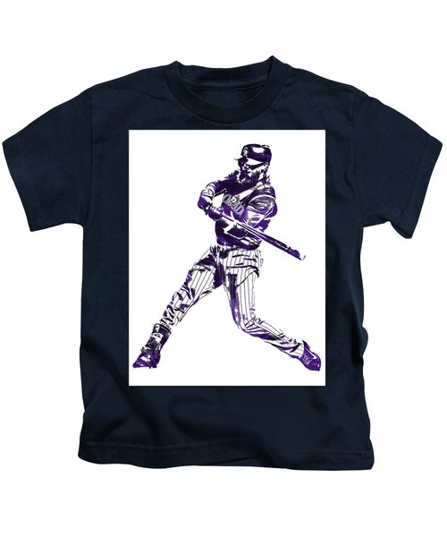 Charlie Blackmon Colorado Rockies Pixel Art 6 Kids T-Shirt