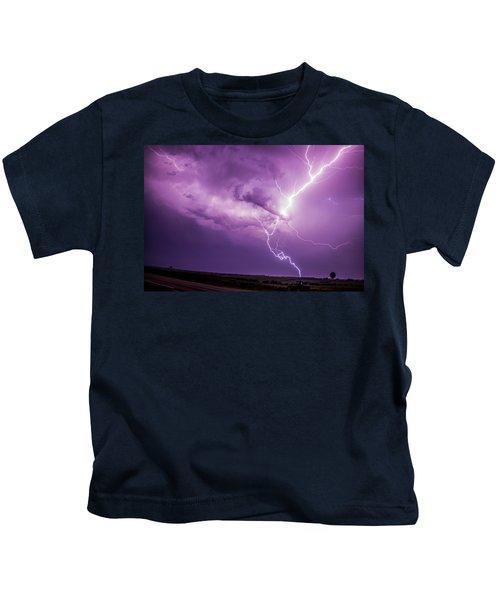 Chasing Nebraska Lightning 018 Kids T-Shirt