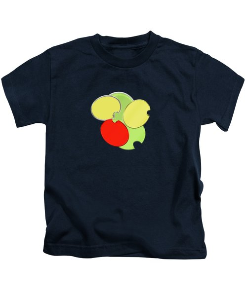 Circles Of Red, Yellow And Green Kids T-Shirt