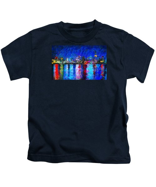 City Limits Tokyo Kids T-Shirt by Sir Josef - Social Critic - ART