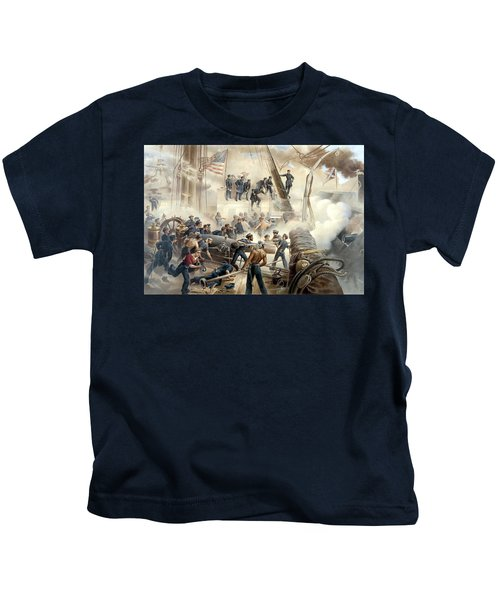 Civil War Naval Battle Kids T-Shirt