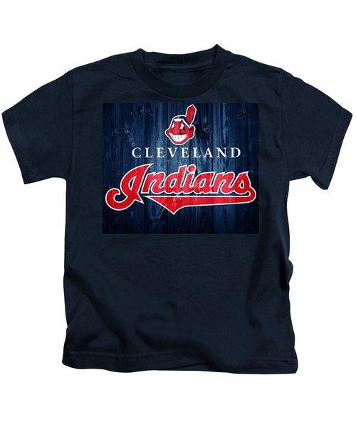 Cleveland Indians Barn Door Kids T-Shirt