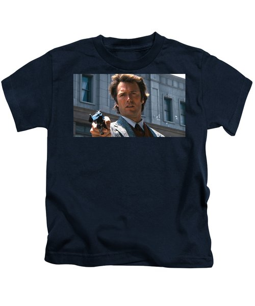 Clint Eastwood With 44 Magnum Dirty Harry 1971 Kids T-Shirt