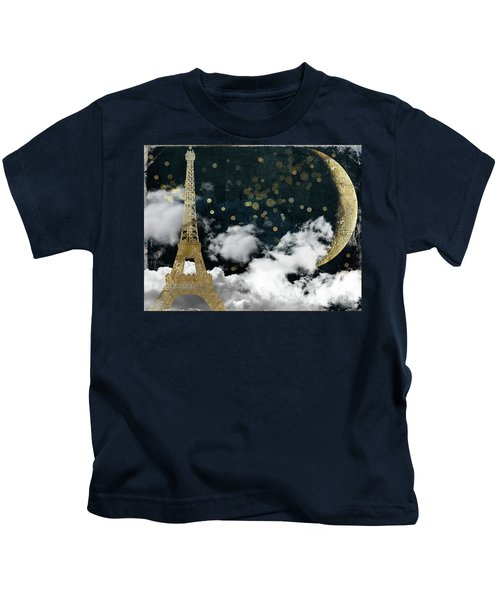 Cloud Cities Paris Kids T-Shirt by Mindy Sommers