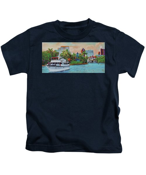 Cocktails On The New River Kids T-Shirt