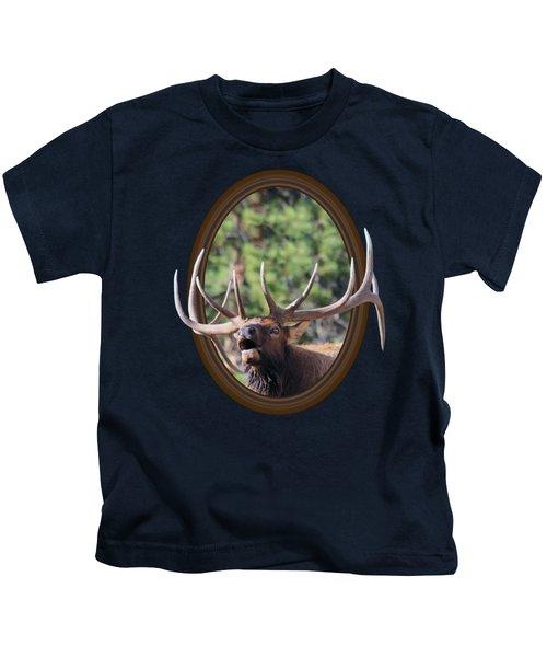 Colorado Bull Elk Kids T-Shirt