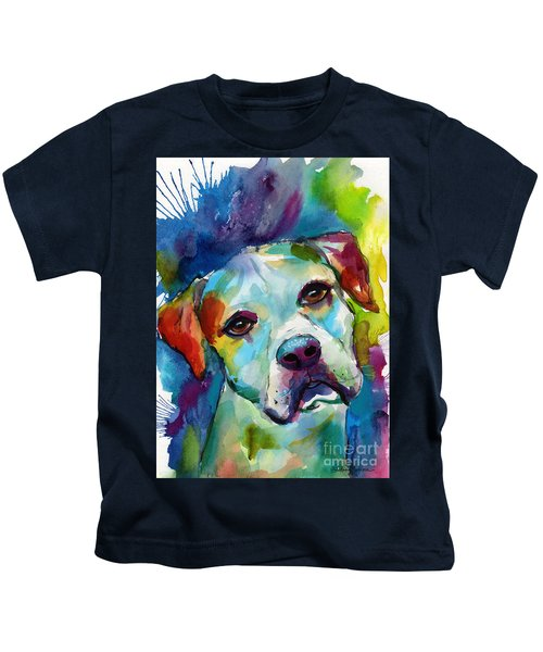 Colorful American Bulldog Dog Kids T-Shirt