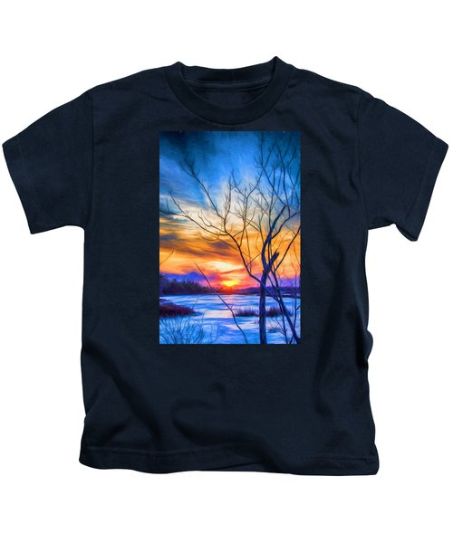 Colorful Cold Sunset Kids T-Shirt