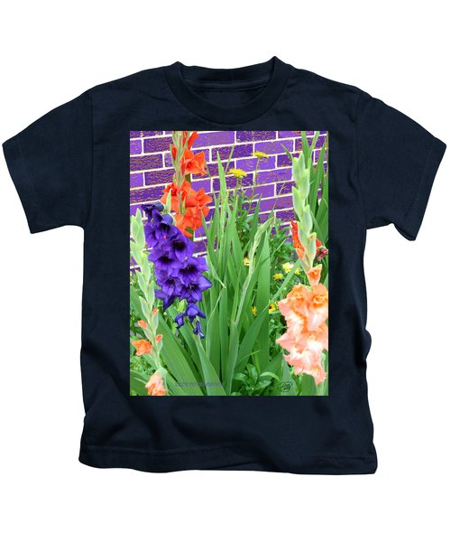 Colorful Gladiolas Kids T-Shirt