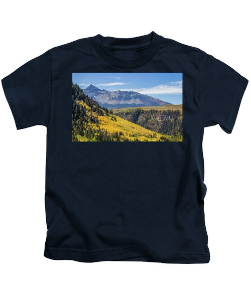 Colorful Mountains Near Telluride Kids T-Shirt