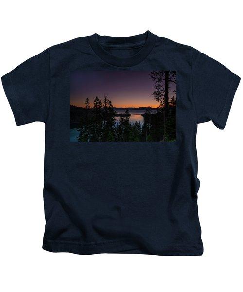 Colorful Sunrise In Emerald Bay Kids T-Shirt
