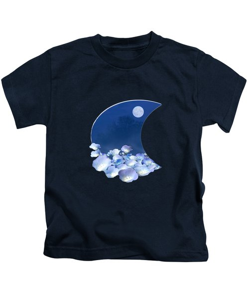 Cornflowers In The Moonlight Kids T-Shirt