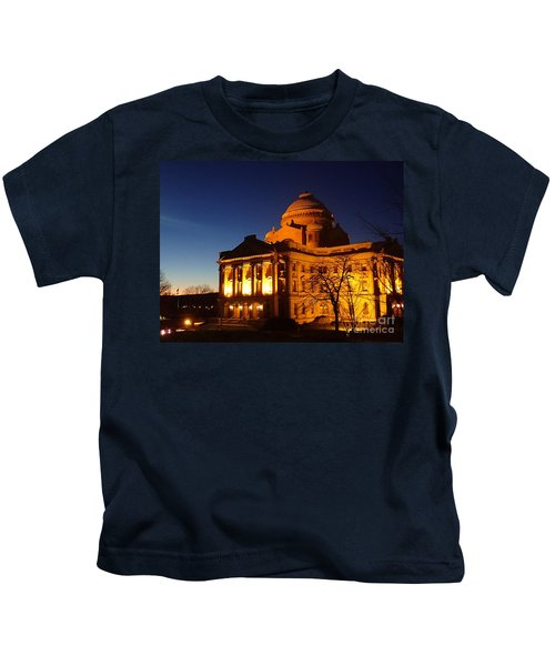 Courthouse At Night Kids T-Shirt